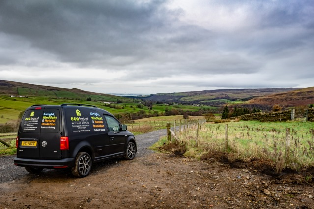 Ecological Building Systems van on-site in Northumbria
