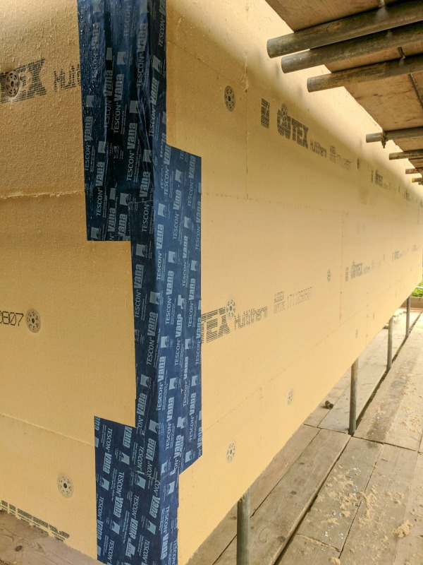 Solitex Fronta WA breather membrane covering Multitherm boards
