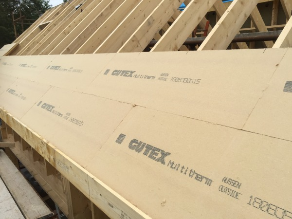 Initial installation of Multitherm on a pitched roof