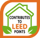 Contributes to LEED points
